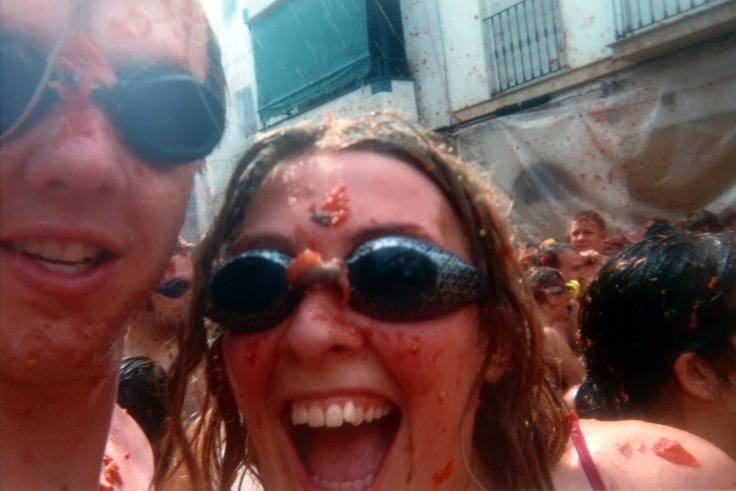 Slightly messier babyfaces at La Tomatina - 2002