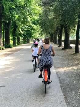 Riding the old walls of Lucca was a great way to see the town.