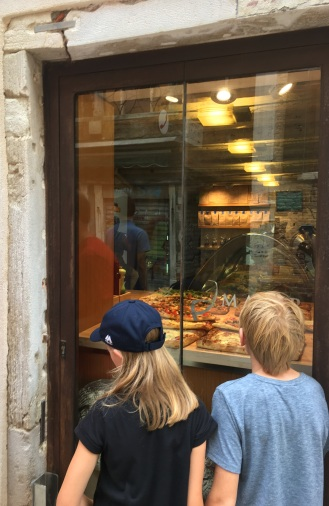 Kids salivating outside the Majer