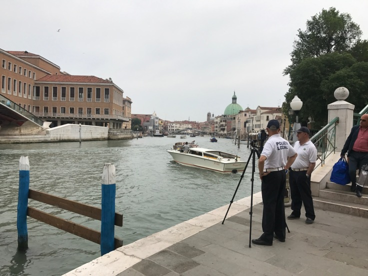 Speed cameras on the Grand Canal