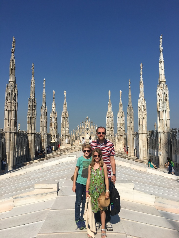 "On top of Duomo before ""the argument"""