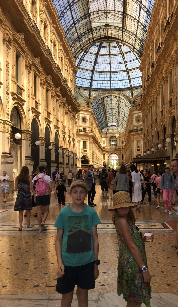 Posing in Galleria Vittorio Emanuele II