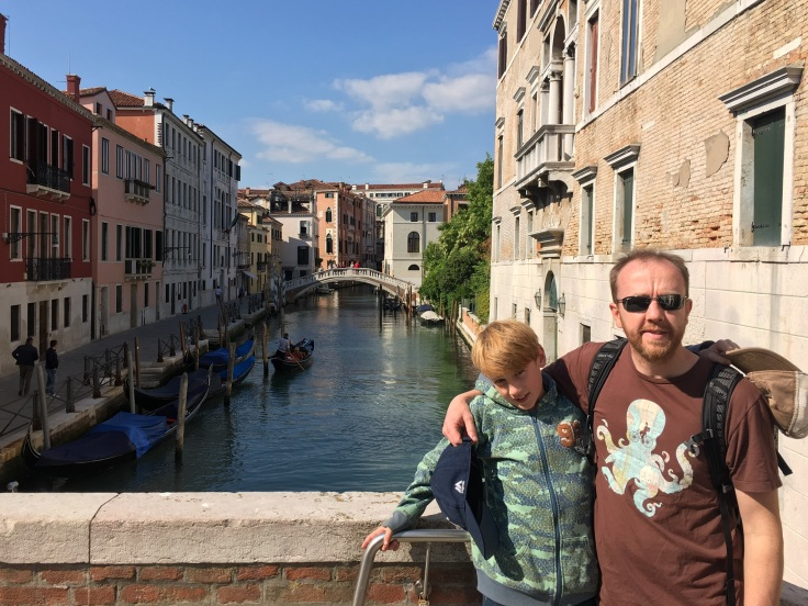 Father/Son photo of Venice canal