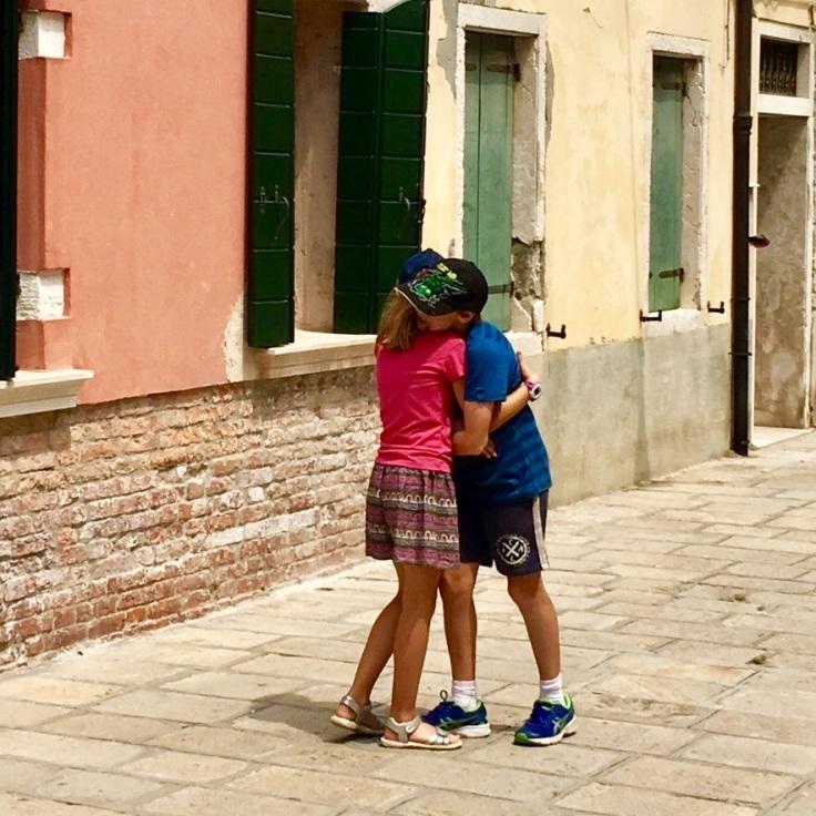 Hugs on the island of Murano