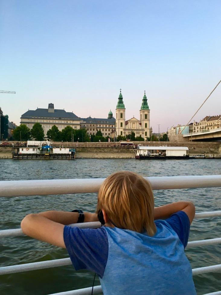 Oli cruising on the Danube