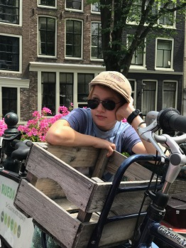 "Oli ""enjoying"" Amsterdam"