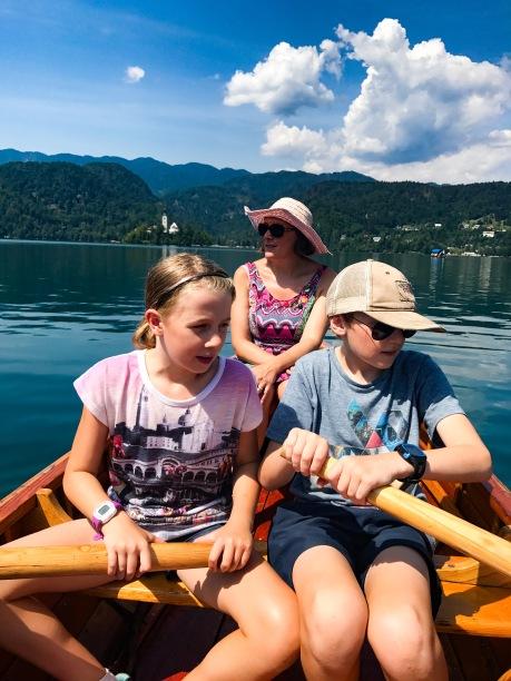 Enjoying Lake Bled