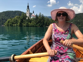 Enjoying Lake Bled