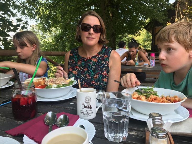 Meal on the mountain in Ljubljana