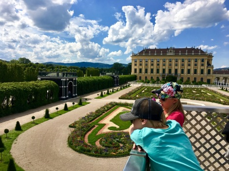 One of the many gardens at Schonbrunn Palace.