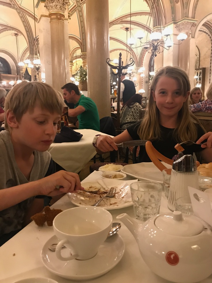Cake for dinner in the oldest cafe in Vienna