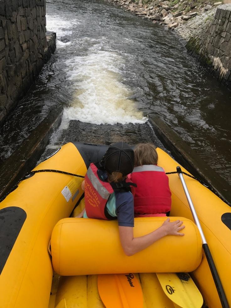 Down the rapids on the Vltava River at Cesky Krumlov