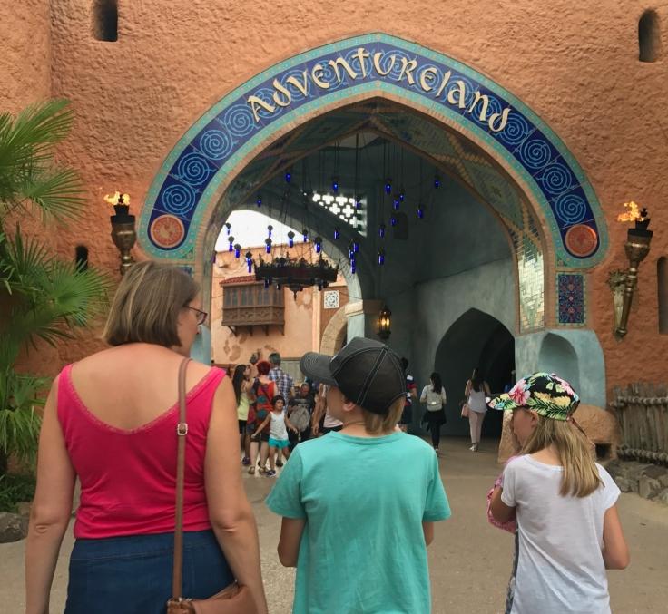 Entering Adventureland