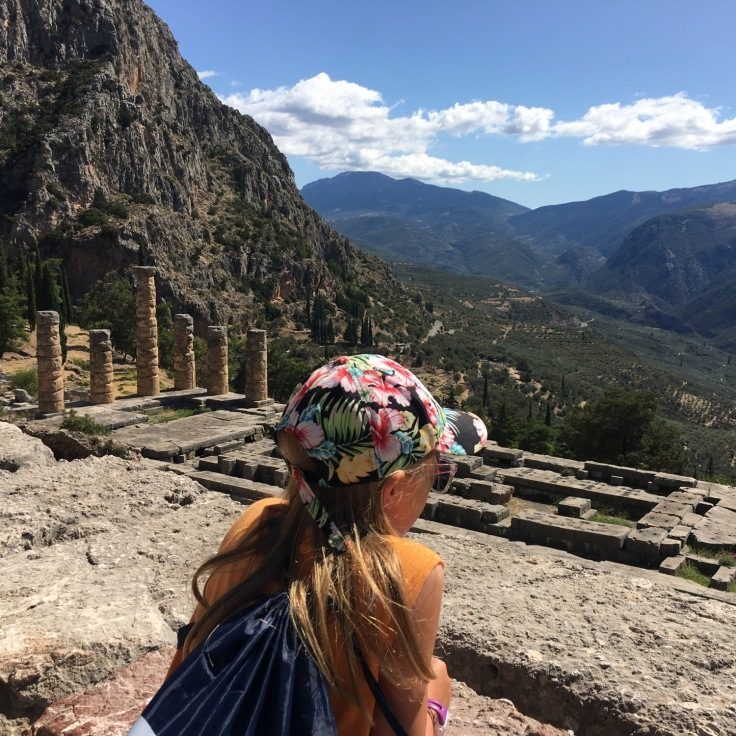 The Oracle of Delphi surveys her territory