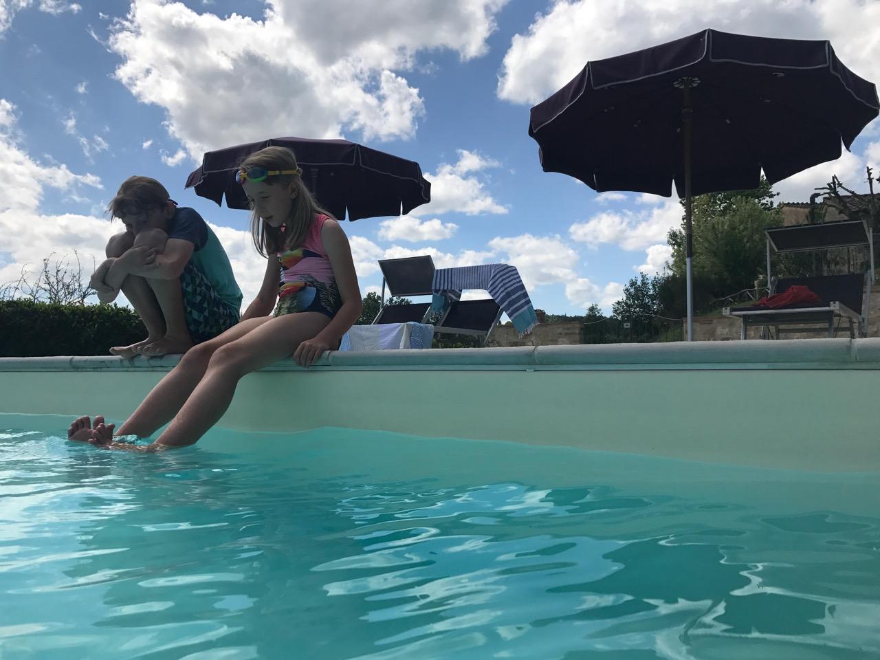 Pool fun in the Tuscan sun.