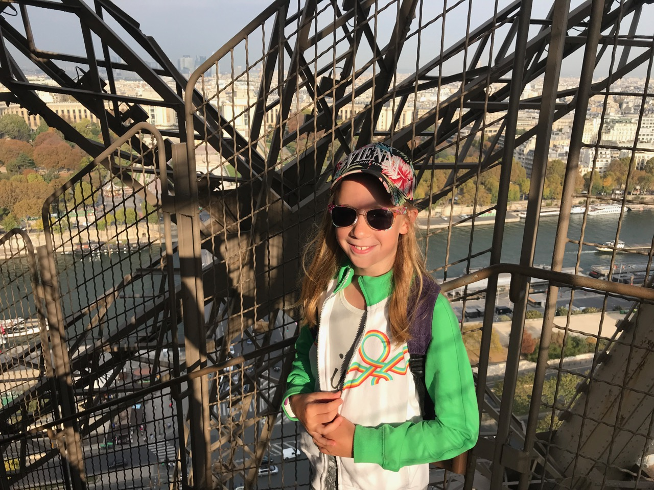 And when she was only halfway up (the Eiffel Tower) she was neither up nor down.